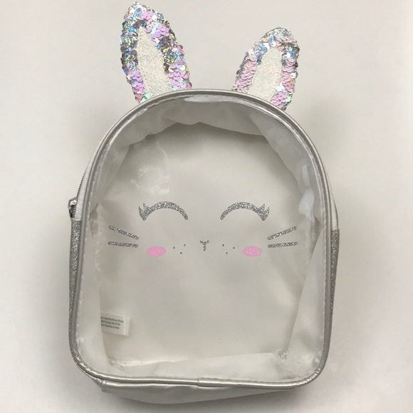 Justice Other - Justice Sequin Ears Clear Front Backpack
